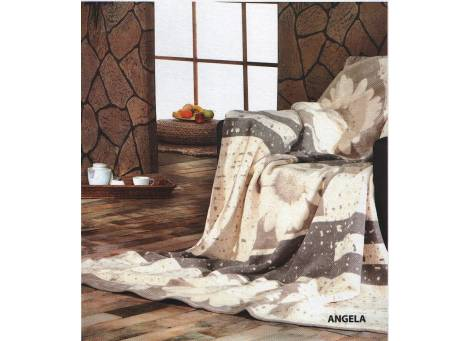 Плед Arya Cotton Angela бежевый